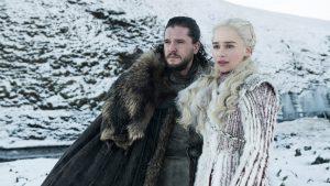 Jon et Daenerys sous la neige GoT