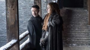 GoT Sansa saison 7 à Winterfell avec Littlefinger